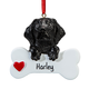 Personalized Black Lab Ornament, One Size