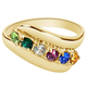 Birthstone Crystal Gold-Plated Bypass Ring, One Size