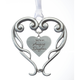 Pewter Amazing Daughter Ornament, One Size