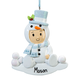 Personalized Baby in Snowman Suit Ornament, One Size