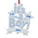 Personalized It's a Boy Ornament, One Size