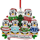 Personalized Penguins in Ugly Sweaters Ornament, One Size