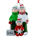 Personalized Shoveling Family Ornament, One Size