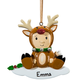 Personalized Reindeer Baby Ornament, One Size