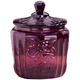 Amethyst Depression Style Glass Biscuit Jar