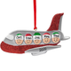 Personalized Family Airplane Ornament, One Size