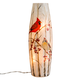 Cardinals Lighted Glass Hurricane, One Size