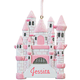 Personalized Pink Princess Castle Ornament, One Size