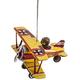 Tin Bi-Plane Ornament, One Size