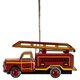 Tin Fire Engine Ornament, One Size