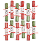 Christmas Crackers, Set of 12, One Size