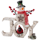 Resin Snowman Joy Sign, One Size