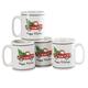 William Roberts Holiday Truck Mugs, Set of 4