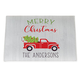 Personalized Red Truck Christmas Doormat, One Size