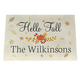 Personalized Hello Fall Doormat, One Size