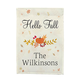 Personalized Hello Fall Garden Flag, One Size