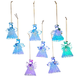 Color-Changing Angel Ornaments, Set of 8
