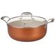 Home Marketplace Copper Ceramic 8 Qt Stock Pot w/ Glass Lid