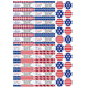 Personalized Stars and Stripes Labels and Seals 60
