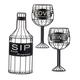 3 Piece Sip,Wine &Love Wall Hanging Set by HomeStyle Kitchen
