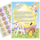 2020 Letter and Sheet of Stickers Gift From Easter Bunny, One Size