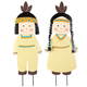 Metal Native American Boy and Girl by Fox River Creations™, One Size