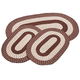 Chocolate 3-Piece Two-Tone Braided Rug Set by OakRidge™, One Size