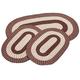 Chocolate 3-Piece Two-Tone Braided Rug Set by OakRidge™