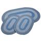 Slate Blue 3-Piece Two-Tone Braided Rug Set by OakRidge™, One Size