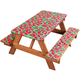 Deluxe Picnic Table Cover w/ Cushions by HSK Watermelon