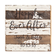 Personalized Happily Ever After Reclaimed Wood Sign by Sweet
