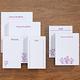 Flower Notepads Refill Set/6