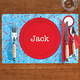 Personalized Boy Place Setting Placemat