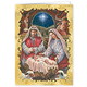 Holy Family Personalized Embossed Christmas Cards - Set Of 2