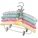 Satin Padded Hangers With Clips - Set of 4