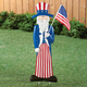 Metal Uncle Sam Lawn Stake