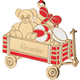 Personalized Teddy Bear Wagon Ornament, Multicolor