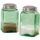 Classic Green Salt and Pepper Shakers