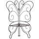 Wire Butterfly Plant Holder