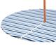 Blue Stripe Elasticized Zippered Vinyl Table Cover