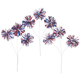 Red, White & Blue Pom Pom Sprays, Set of 3, One Size