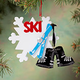 Personalized Skiing Ornament