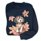 Puppy In Leaves Sweatshirt
