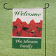 Personalized Poinsettia Garden Flag