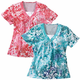Short Sleeve Floral Shirts, One Size