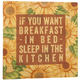 12 x 12 Breakfast in Bed Metal Wall Plaque