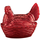 Red Depression Style Glass Hen Candy Dish, One Size