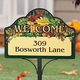 Personalized Harvest Leaves Magnet Sign