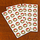 Wreath Of Gold Envelope Seals - Set of 250