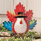 Metal Whimsical Turkey Stake